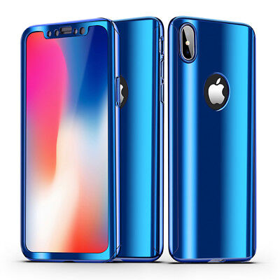 Luxury Ultra Slim 360 Degree Plating Mirror Case Cover For iPhone XS 8 7 6s Plus