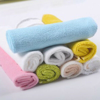 Baby Face Washers Hand Towel Cotton Wipe Wash Cloth Striped Pattern Cloth 8pcs