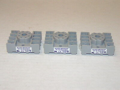 Lot of 3 Allen Bradley 700-HN125 Series A 10A 600V 8-Pin Relay Socket New no Box
