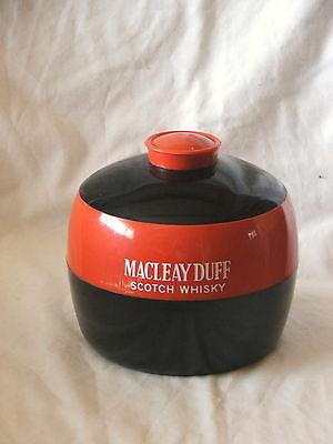 Retro Macleay Duff Scotch Whisky Ice Bucket ~ Red & Black Ice Bucket Gt Britain