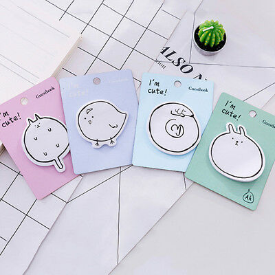 Cute Cartoon Animal Sticky Notes Memo Pad Paper Sticker Bookmarks Notepad Gift