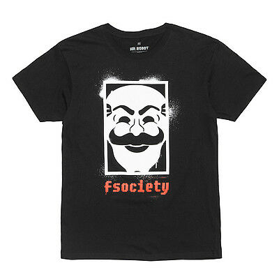 T-shirt MR. ROBOT - FSOCIETY (Neuf, exclusif, taille M)