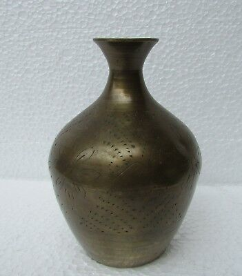 Vintage Old Unique Rare Shape Handcrafted Brass Holy Water Pot, Collectible