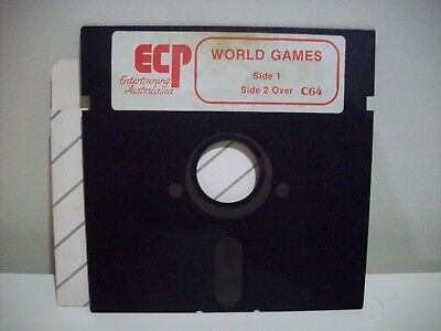 Ecp - World Games - Commodore 64  /128 Game Floppy Disc Vintage Collectable