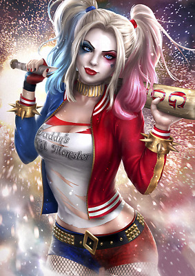 Dc Comics Harley Quinn Poster Print Vinyl Wall Sticker Various Sizes