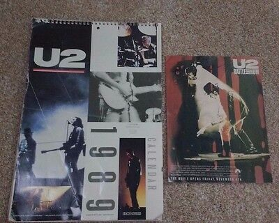 Vintage 1989 U2 Calendar w/ Bonus: Rattle And Hum Film Ad