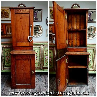 Antique Pine Kitchen Larder Cupboard post-office cabinet King Edward VII royal m