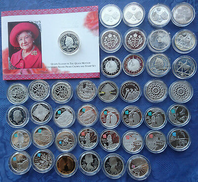 UK Silver Proof Commemorative £5 Pound Crown Coins, .925 Silver