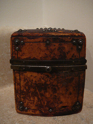 S20 Antique Sewing Kit Etui German Leather Case Gustav Bannewitz Paper Label