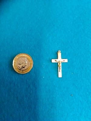 Small Rolled Gold Crucifix - No Chain (303)