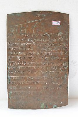 Old Copper Plate Inscriptions Tamarashasa Tam Patra Letter Original NH2812