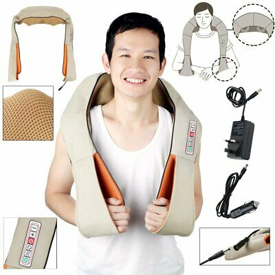Shiatsu Kneading Electric Massager Shawl Neck Shoulder Back and Body with Heat