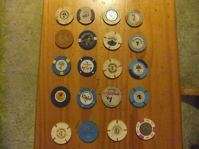 POKER CHIPS LAS VEGAS ,A.C N.J. [1] per auction [12] to choose from vintage.