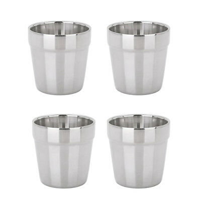 Blesiya 4pcs Stainless Steel Camping Cups Tea Coffee Travel Outdoor Tumbler