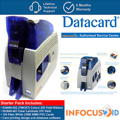 Refurbished Datacard SP75 Plus Dual Sided ID Printer Dual Laminator Starter Pack