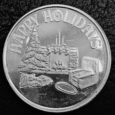 Happy Holiday For Soneones Special 1 Troy oz .999 Fine Silver Art Round M7