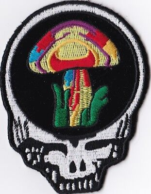 GRATEFUL DEAD - STEAL YOUR FACE/MUSHROOM - IRON ON or SEW ON PATCH