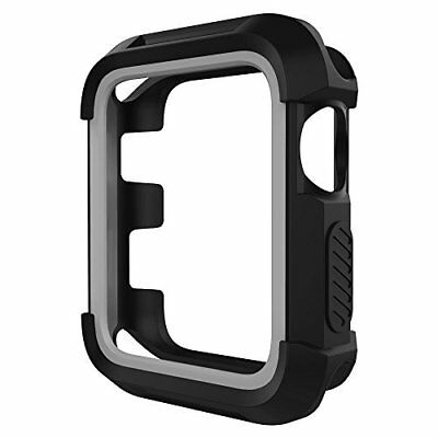 UMTELE Rugged Apple Watch Case 42mm, Shock Proof Bumper Cover Scratch Resistant