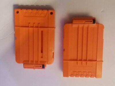 Lot of 2 Nerf N Strike 6 Round Clip  Cartridge Dart Ammo Magazine
