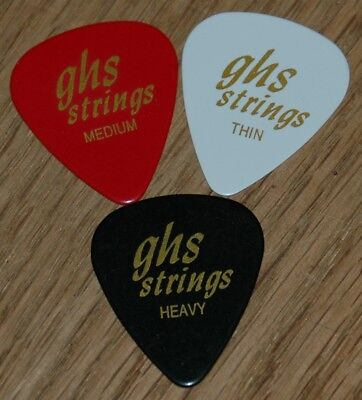 GHS Guitar Picks, 12 light, Med, or Heavy your choice.
