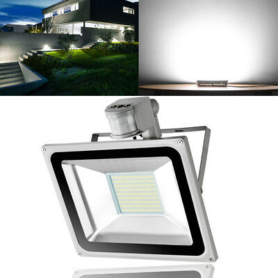 100W LED Floodlight PIR Sensor LEMBRD Day Garden Lighting Outdoor Security Light