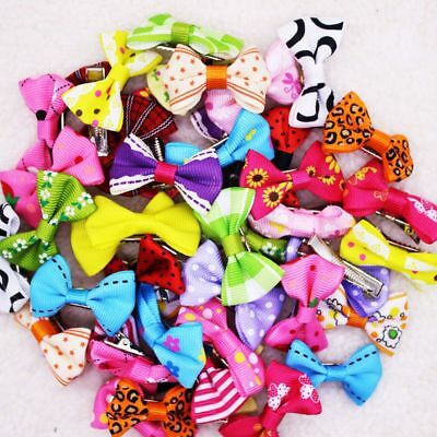 Little Ornament Charms 10 Pcs Pet Grooming Accessories For Dogs Bow Hair Clips