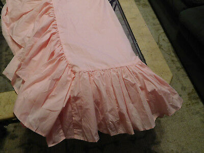 Crib Skirt Baby Bed Dust Ruffle Nursery Crib Bedding Pink Very Full