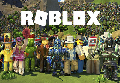 ROBLOX GANG WITH Blue Background Vinyl Wall Sticker Various