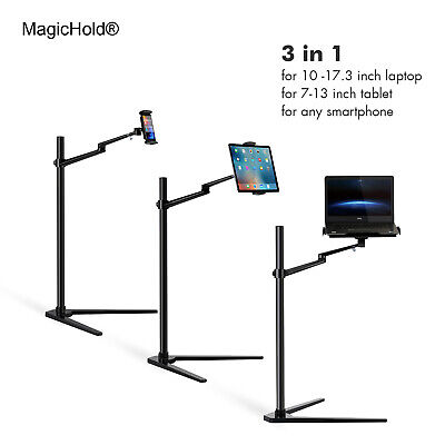 Height adjustable bed stand office floor stand for laptop/notebook ( 11-16 inch)