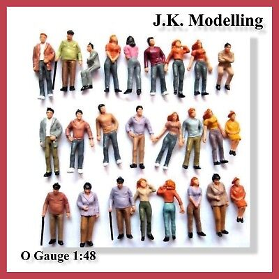 Painted Mixed Figures (10pcs / 20pcs) in O Gauge 1:48 for your Model Railway