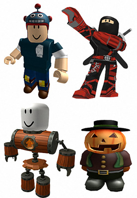 Roblox X4 Characters Per Page Vinyl Wall Sticker Various