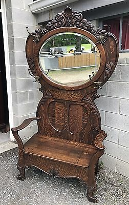 Victorian Large Carved Oak Hall Tree