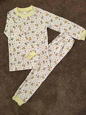 Baby Girl Or Boy Yellow Teddy Bear 100% Soft Cotton Pyjamas - 9,12,18,24 Months