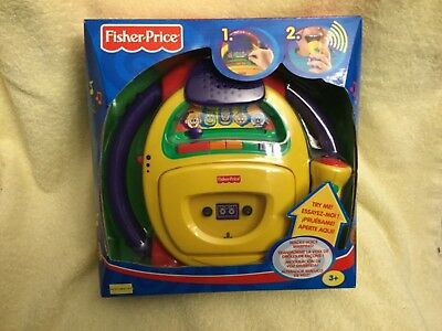 2002 Fisher Price Tuff Stuff Wacky Voice Warp Tape Player Recorder