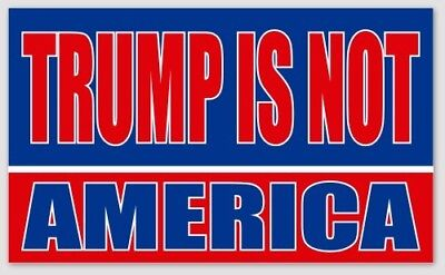 "5"" x 3"" Vinyl Anti Trump Bumper Sticker Red White & Blue  with Free Shipping!"