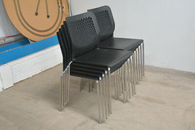 stacking chairs job lot plastic chrome dining pub reception hall cafe chair x10