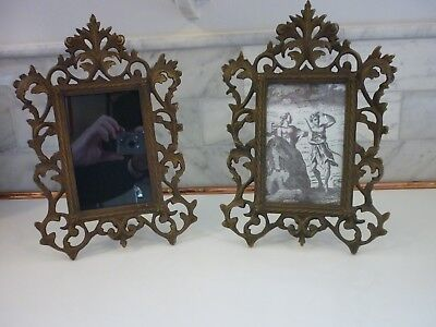 Pair French Bronze Picture Frames-Victorian Ornate Rococo - Quality Reproduction