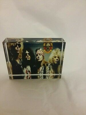 Guns n roses rare crystal memorabilia 8cm by 6cm ideal gift or collectable
