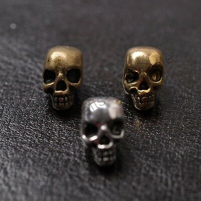 10Pcs Tibetan Silver Gold Bronze,Skull DIY Paracords Bracelets Jewelry Beads K40