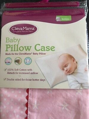 Clevamama Replacement Baby Pillow Case (Pink)