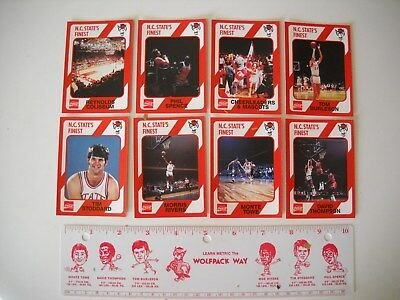 Vintage NC State Wolfpack 1974 NCAA Champs Metric Ruler and Player Cards