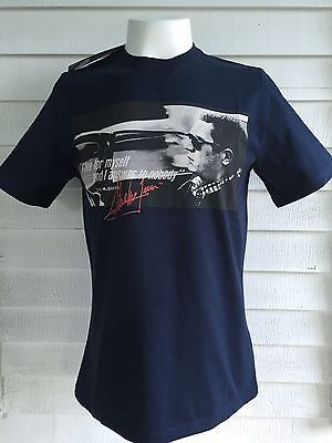 Nwt New Barbour Steve Mcqueen I Live For Myself Nobody Tee Shirt Uk Small