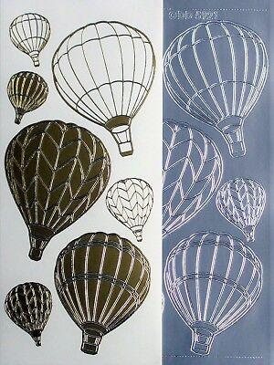 Hot Air Balloons PEEL OFF STICKERS Holidays Travel Cardmaking