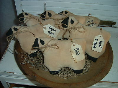 Primitive Sheep Bowl Fillers- Fresh Wool, Baa, Tags