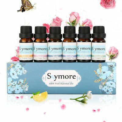 Pure Aromatherapy Essential Oil 6pc A Set for Air Diffuser Aroma Humidifier USA