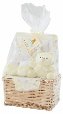 Yellow Baby Girl Essentials Gift Basket 9-Piece Layette Set Infant up to 0-6