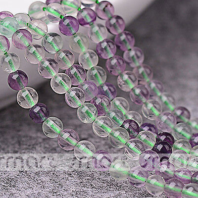 "Colorful Natural Fluorite Gemstone Round Loose Gemstone Beads 15.5"" Strand 3mm"
