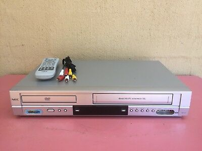 Serviced NEC NDT-43 Combo VCR DVD player + Video Recorder + Remote + RCA