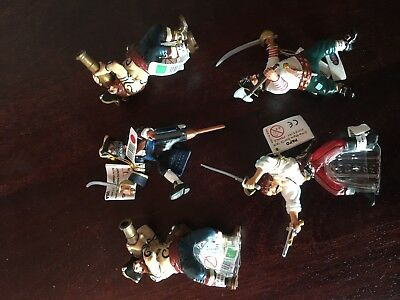 5 x Papo Pirate and Corsair Figures - Mixed Lot, Brand New