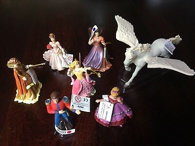 7 x Papo Fantasy Figures including Pegasus and Fairy - Mixed Lot, Brand New